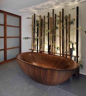 бамбук в ванной комнате