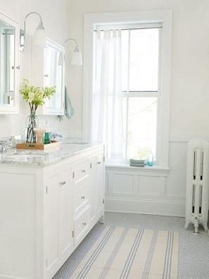 белый цвет в ванной комнате