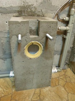 бетонное основание для унитаза