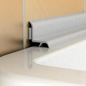 бордюр на плитку в ванной