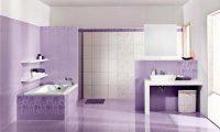 Оформление ванной комнаты в сиреневом цвете