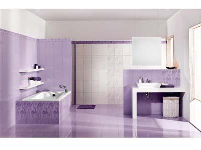ванная комната в сиреневом цвете