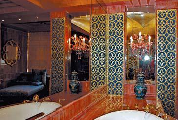 византийская мозаика в ванной комнате