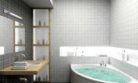 Гипсокартоновый потолок в ванной комнате