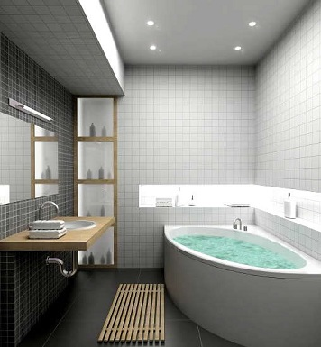 эстетичная ванная комната