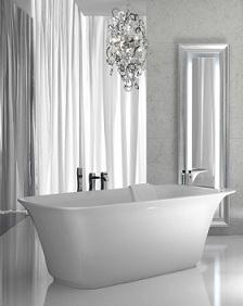 глубокая чугунная ванна