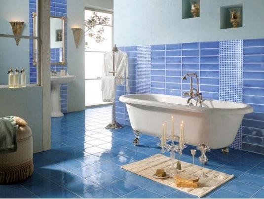 пол в ванной в морском стиле