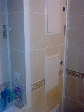 готовый короб в ванной из гипсокартона