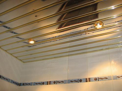 готовый реечный зеркальный потолок