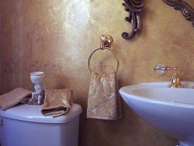 декоративная штукатурка в интерьере ванной