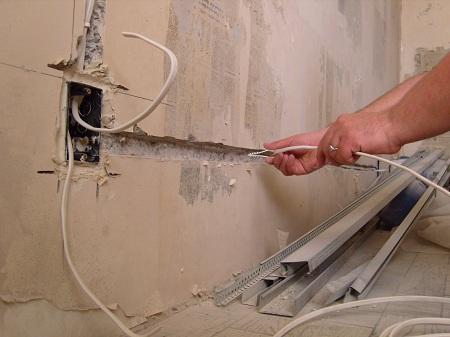 замена электропроводки в ванной