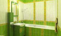 Оформление ванной комнаты в зеленом цвете