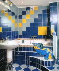 стильный дизайн ванной с помощью плитки