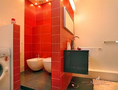 кирпичная перегородка в ванной