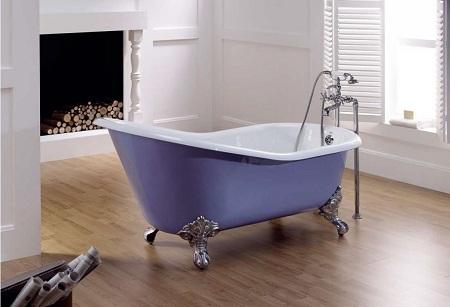 красивая, но тяжелая чугунная ванна