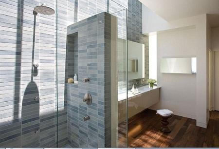 красивая перегородка в ванной комнате