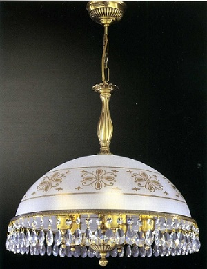 красивая стеклянная люстра для ванной в классическом стиле