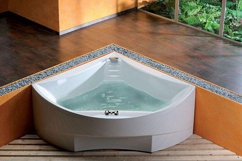 красивая угловая акриловая ванна