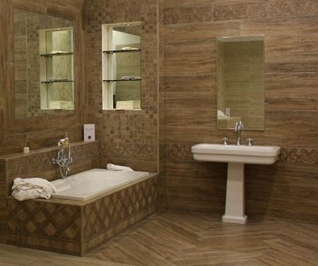 красивое декорирование ванной комнаты