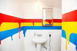 креативная покраска ванной