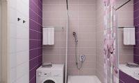 Все оттенки фиолетового или как гармонично оформить ванную комнату