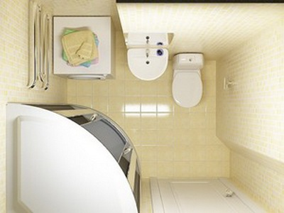малогабаритная ванная с душевой кабиной