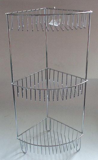 металлическя полка в ванную