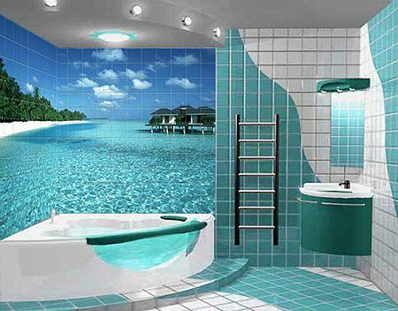 Оформление ванной комнаты: дизайн 85