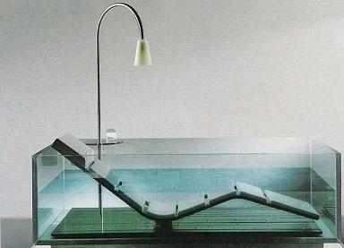 необычный дизайн прозрачной ванны