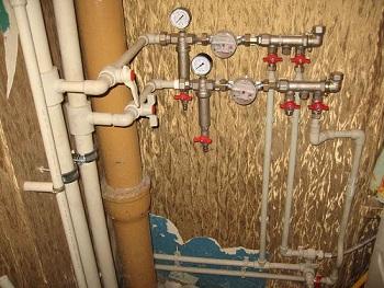 новый стояк водопровода