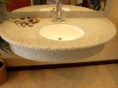 оригинальный дизайн столешницы из искусственного камня