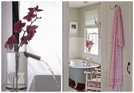 орхидеи в ванной комнате