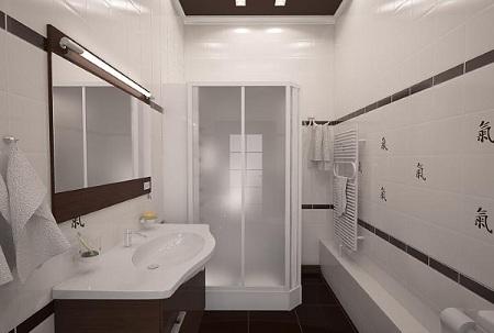 освещение ванной комнаты в японском стиле