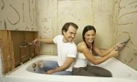 Обшивка стен ванной комнаты гипсокартоном