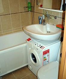 отличное место для стиральной машины под раковиной