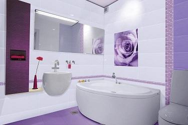 панно из керамической плитки в ванной