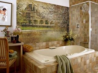 плитка панно в ванной