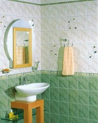 плитка природного цвета в ванной