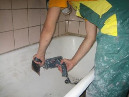 подготовка поверхности ванны к эмалировке