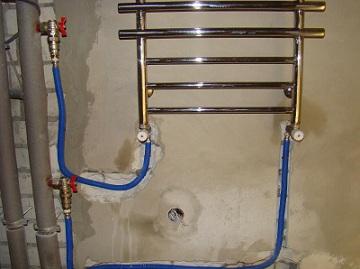 подключение полотенцесушителя к водопроводу