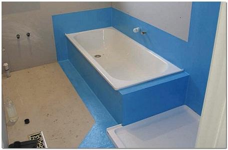 полная гидроизоляция ванны рулонным материалом