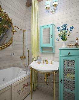 прованс в ваной комнате
