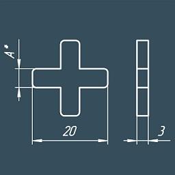 размеры крестиков
