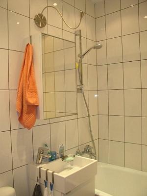 размещение элементов в маленькой ванной