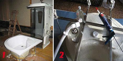 ремонт душевой кабины