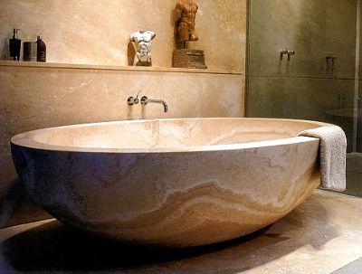 ретро ванна из искусственного камня