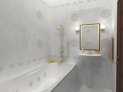 светлая ванная визуально кажется большей