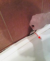 снятие бардюра с ванны