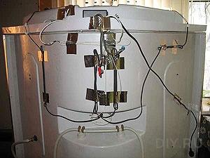 спрятанные провода на душевой кабине