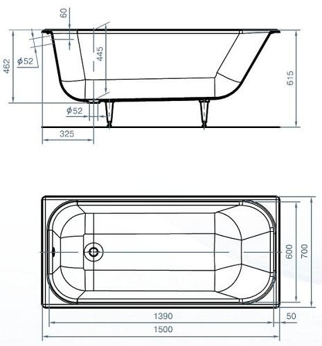 стандартный размер ванны по ГОСТ
